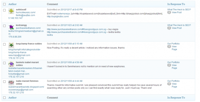 blog comment spam example