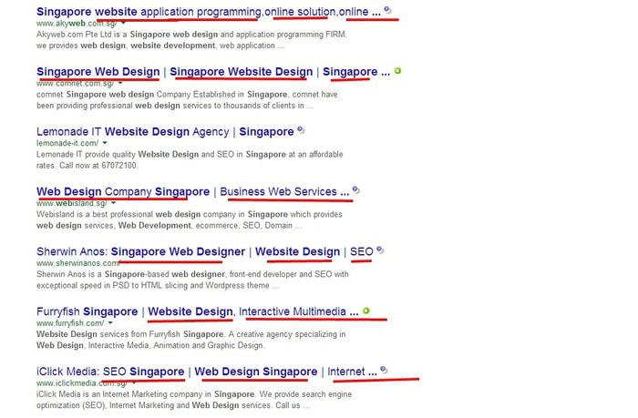 Google Search web developer singapore