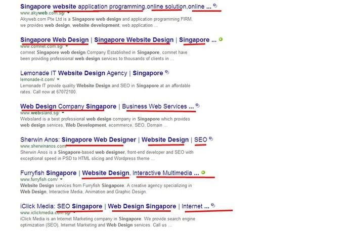 Google Search web developer singapore
