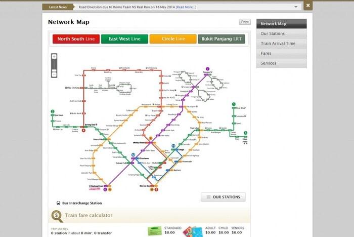 Network Map and Train Fare Calculator