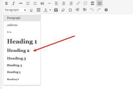 keywords in headings