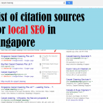 Big list of citation sources (and links) for local SEO in Singapore
