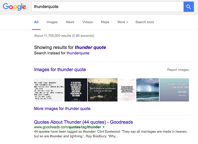thunderquote serp