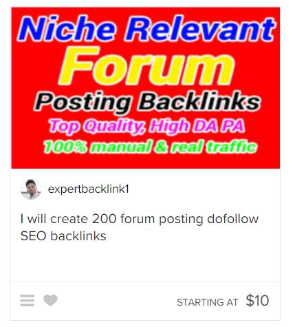 fiverr forum posting gig